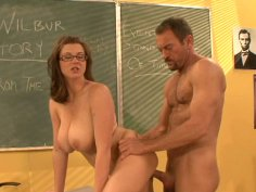 Professor's dick is sucked by shy student
