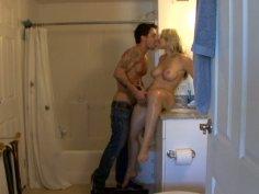 Spy video involving cute blonde Sarah Vandella.