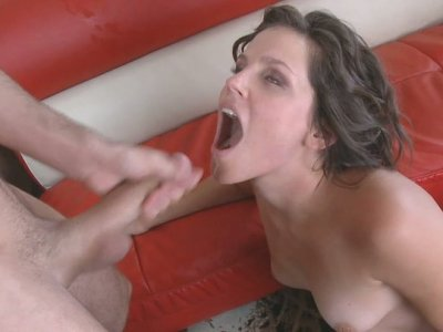 He eats her soaking pussy and it makes her get wild