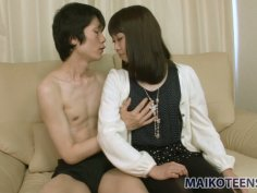 Lovable Japanese girlie Misato Uemoto gets fingerfucked