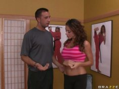 Karate trainer takes advantage of his weaker student Ariella Ferrera