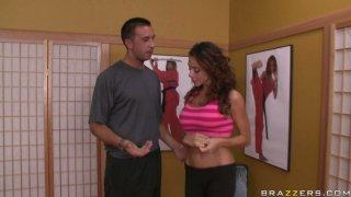 Karate trainer takes advantage of his weaker student Ariella Ferrera