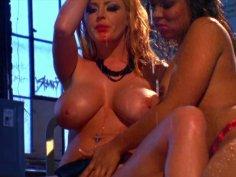 Sweet chicks Sophie Dee & Tasha Lynn warm up with hot masturbation