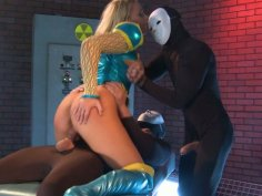 Horny experiments with Alexis Monroe's futuristic ass
