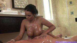 Brunette Mishka is pro in erotic massage as well as deepthroat