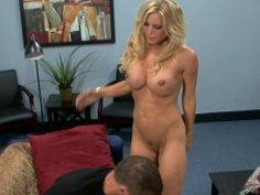 Cute blonde Amber Lynn sucks and rides cock
