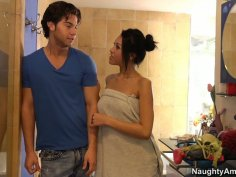 Fantastic Asian Jayden Lee blows dick of her long-time crush