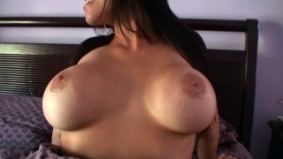 Buxom and torrid chick Megan Jones tickles her fancy ardently