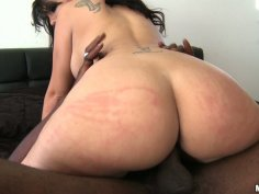 Appetizing black haired hoe Madison Rose in her cock riding adventure