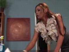 Narrow eyed goddess Mia Lelani gives hottest deepthroat blowjob ever
