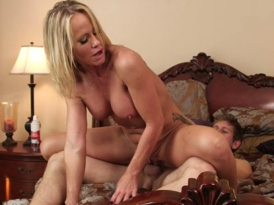 Emotional and torrid blondie Simone Sonay gets her twat fucked toughly