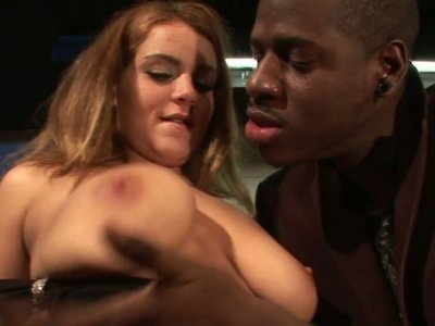 A horny black stud pleases Natasha Nice's wet twat