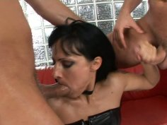 Torrid and insatiable hoe Kleopatra Cazso is used from front and rear