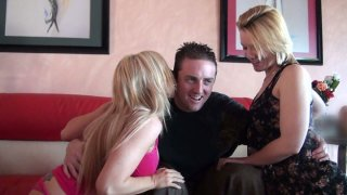 Slutty girls Christie Stevens, Sierra Day and Maddy Oreilly have much fun on a party