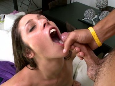Cock riding goes well for sexy Anastasia Morna with flat tits