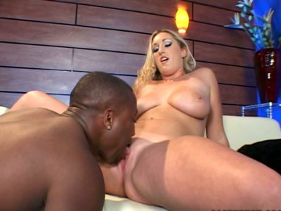 Thick black dick for delicious white pussy of Summer Lynn
