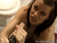 A Welcome Handjob Party To Her Boyfriend