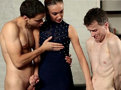 Blowing a stranger in front of her hubby