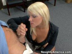 Cock starving secretary Veronika Raquel