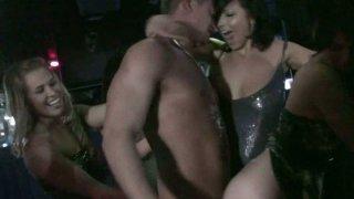 Slutty Ashlyn Rae and her girlfriends get wild in the night club