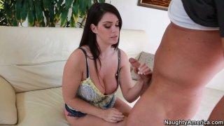 Fabulous BBW woman Alison Tyler sucks huge cock balls deep