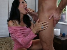 Brawny fucker gets a great sloppy blowjob from Zoey Holloway