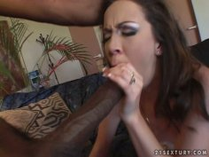 Cute girl Trinity Post goes nasty and shameless with big black dick