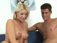 Blonde wench Bianca gets rammed in a missionary position