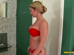 Busty blondie is a fan of hot and tender erotic massage