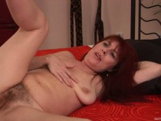 Mature redhead Bara gets nailed hard by Richy
