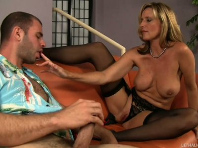 Milfy Jodi West seduces  cocky guy Ralph Long