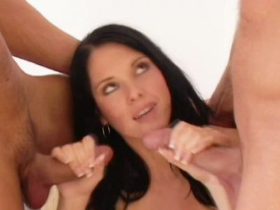 Jennifer Dark licks  beaded dildo toy and fucks her