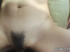 Amateur POV video with Mami Kato getting banged from behind