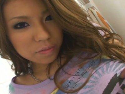 Pov video with seductive oriental chick Romihi Nakamura