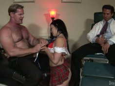 Working hard Amy Starz  and two horny studs