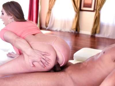 PAWG Reverse cowgirl magician makes BBC disappear