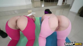 Two Huge Booties Are Better Than One