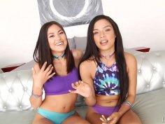 Maya's 1st Lesbian Anal