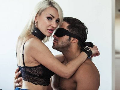 Kinky with her husband