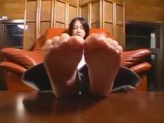 Beautiful Asian soles make my dick very hard