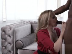 Goddess Julia Ann stuffing pussy with young BBC