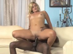 Black Guy And A Horny Blonde