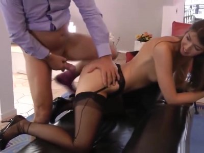 Euro Beauty Riding Old Mans Cock