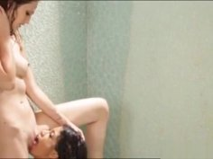 Two Tight Babes Licking Each Pussies In Shower Room
