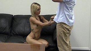 Mikela is a waitress who gets fucked on camera Thumbnail