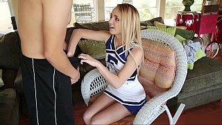 Petite cheerleader gets fucked in uniform Thumbnail