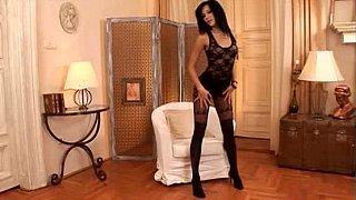 Posing, spreading, pantyhose, lingerie, masturbation, legs, feet