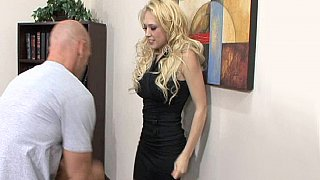 Blonde secretary gets her clothes off and fucking Thumbnail