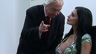 Oral sex with help of their boss Thumbnail