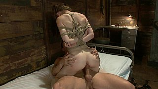 Cute Sensi Pearl gets fucked in suspended position Thumbnail